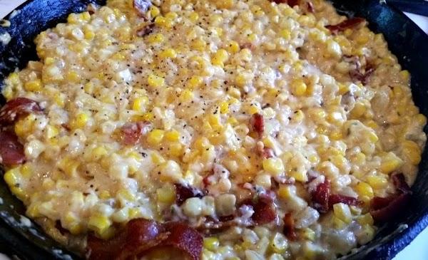 ~ Fried Corn, Cream & Bacon ~ Recipe