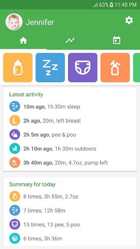 Baby tracker - feeding, sleep and diaper 1.0.89 screenshots 1