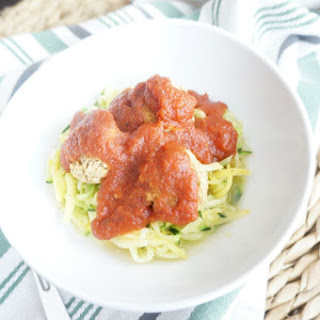 Lentil Meatballs with Zucchini Noodles