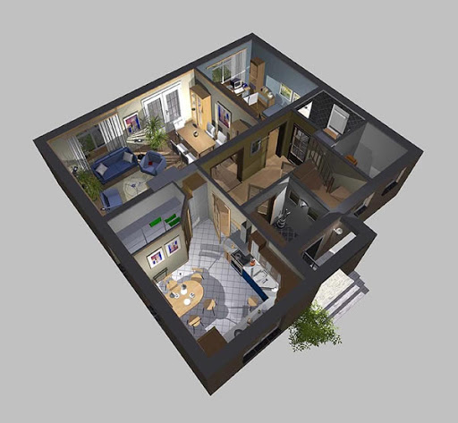 APS 074 - Rzut parteru 3D