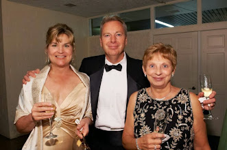 Photo: Joni & C. Todd Lock join Cindy Ertle for champagne in the VIP Lounge during the 2013 Imagine! Harvest Ball.