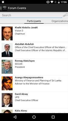 World Economic Forum Events - screenshot
