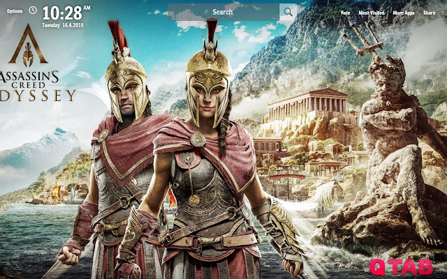 Assassins Creed Odyssey New Tab Wallpapers