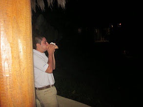 Photo: Finally, the Bosque del Cabo employee gets it to work