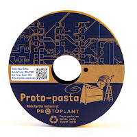 Proto-Pasta Yellow Matte Fiber HTPLA Filament - 1.75mm (0.5kg)