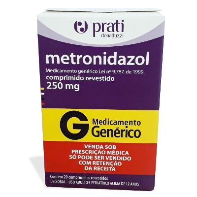 metronidazol 250mg 20comprimidos prati
