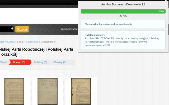 Archival Documents Downloader
