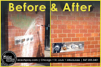Photo: Graffiti Removal in Chicago, IL - before and after!