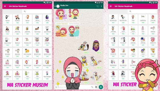 WA Sticker Muslimah Islamic Sticker Cute 5.3