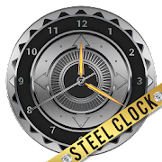 Steel Clock Analog Widget