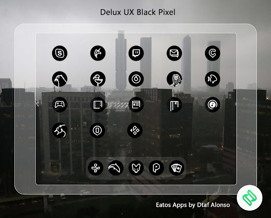 Delux Black Pixel - S9 Icon Pack - Apps en Google Play