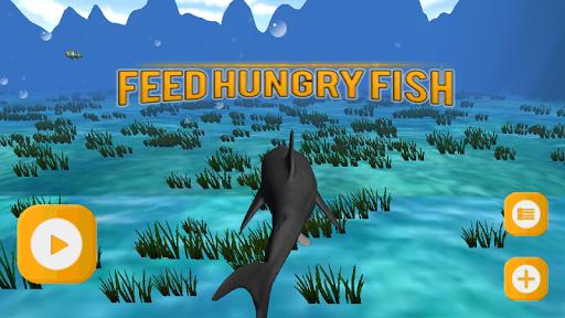 ハングリー魚の3Dフィード