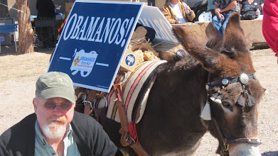 Photo: Ted and the Ass at a Democratic rally