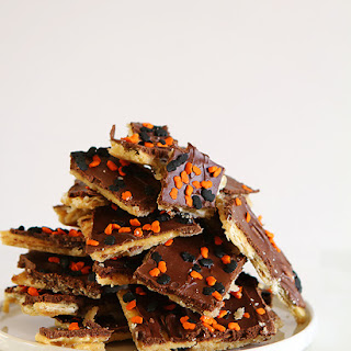 Halloween Saltine Toffee Candy