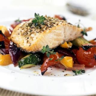 Healthy Salmon Fillet Dinner