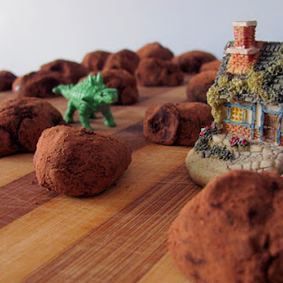 Blue Cheese and Lindt Chocolate Truffles