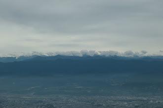 悪沢岳や赤石岳は雲の中・・・
