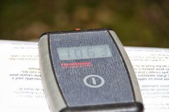 Photo: Plus de 1000°C dans le four; il est temps de couler. (ph M R)