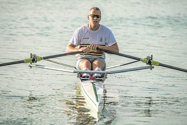 File photo Lawrence Brittain at the SA rowing championships at Roodeplaat Dam near Pretoria Waldo Swiegers on March 6, 2015. © Sunday Times