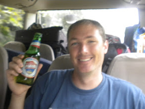 Photo: enjoying a beer on our Panama tour