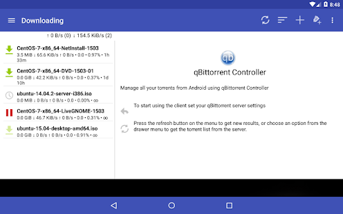 qBittorrent Controller- screenshot thumbnail