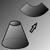 Flat pattern of a cone