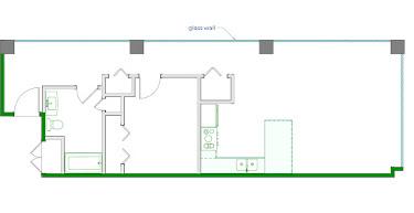 Cuban Floorplan Diagram 870 sq ft