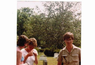 Photo: 1984 Frisbee golf, Forest Hill Cemetery, Ann Arbor - AnnS, SueS, Bob Krause (on the right)