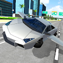 Flying Car City 3D icon