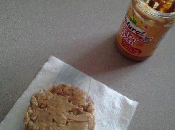 Spread your peanut butter on it with a knife *Adult may be needed