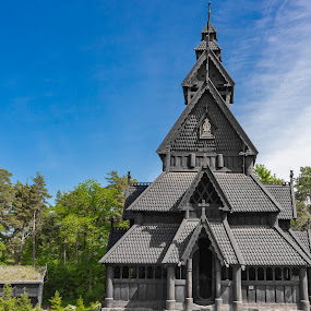 Stave Church from Gol by Ansari Joshi - Buildings & Architecture Architectural Detail ( norsk folkemuseum, gol, open air, travel diary, ancient, travel photography, stave church, oslo, museum, buildings, norway, landscape, architecture,  )
