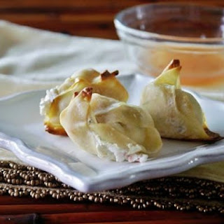 Baked Low-Fat Crab Rangoon.