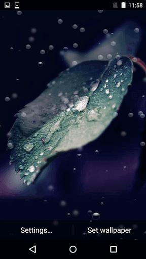 無料个人化Appの雨ドロップライブ壁紙無料|記事Game