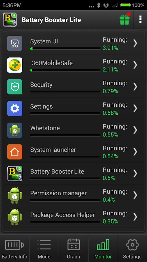 Battery Booster Lite- screenshot