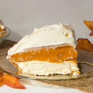 No Bake Triple Layer Pumpkin Pie.