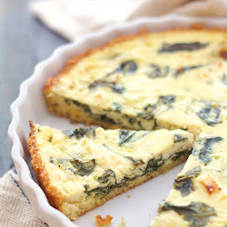 Spinach - Feta Quiche with Quinoa Crust