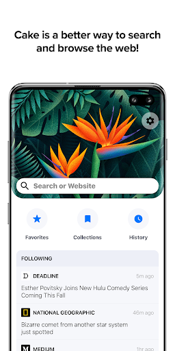 Cake Web Browser—Fast, Private, Ad blocker, Swipe 4.1.13 screenshots 1