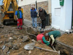 Photo: Arreglando las tuberias de las fuentes 2010