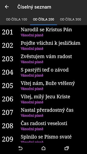 Kancionál - server screenshot 4
