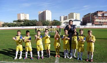 """Photo: Isla Cristina F.C. Benjamín"""" A"""" Entrenadores, Juan Carrasco y Cristian Rivero"""