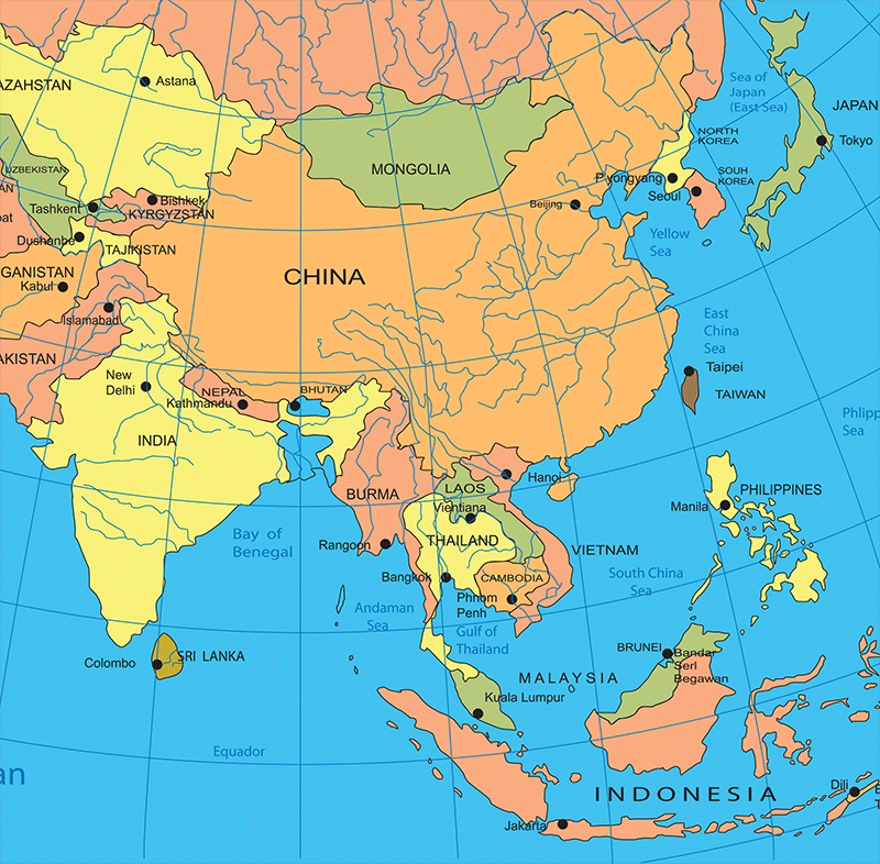 Map Of Asia After Ww2.How The Us Lost Most Of Its Manufacturing