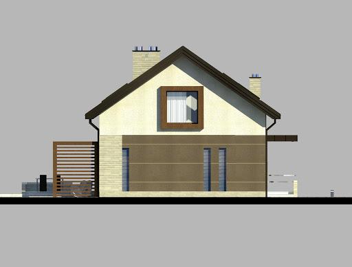 LIM House 05 - Elewacja lewa