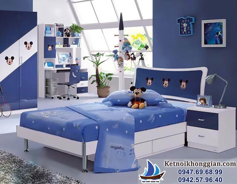 trang trí phòng ngủ bé trai với những nhân vật hoạt hình