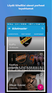 Ticketmaster Suomi- screenshot thumbnail