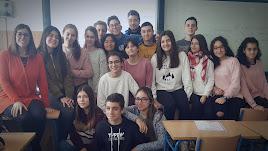 Estudiantes del IESCarlos IIIparticipantes en el proyecto europeo 'eTwinning'.
