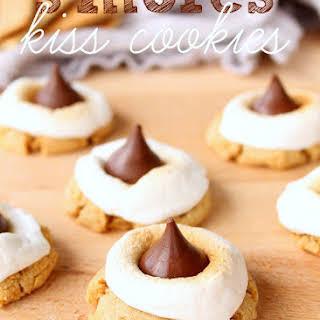 S'mores Hershey's Kiss Cookies.