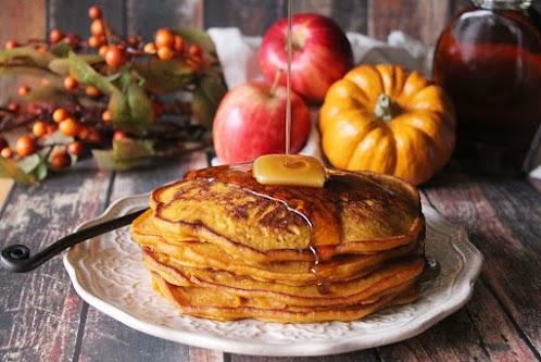 Spiced Pumpkin Apple Pancakes