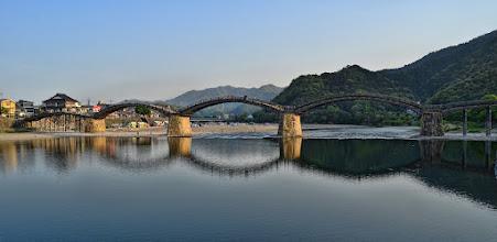 Photo: The Kintai Bridge crossing the Nishiki River in Iwakuni, Japan
