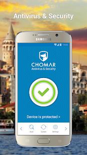 CHOMAR Antivirus Security - náhled