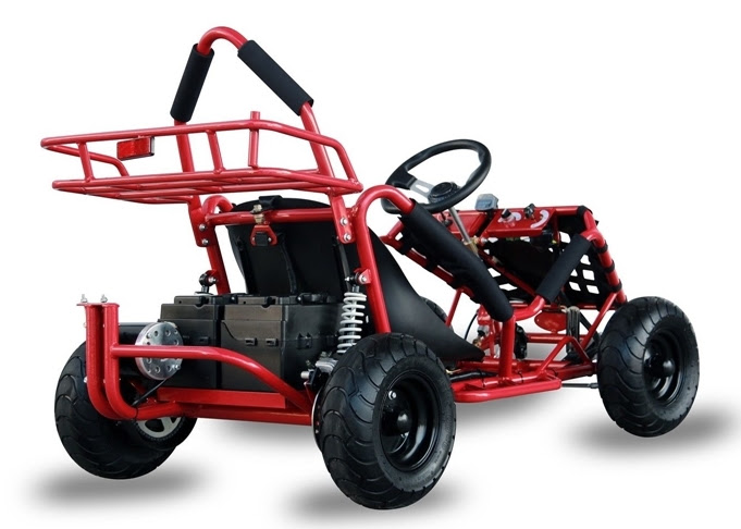 1000w Kids Junior electric go kart cart teenagers single seat buggy